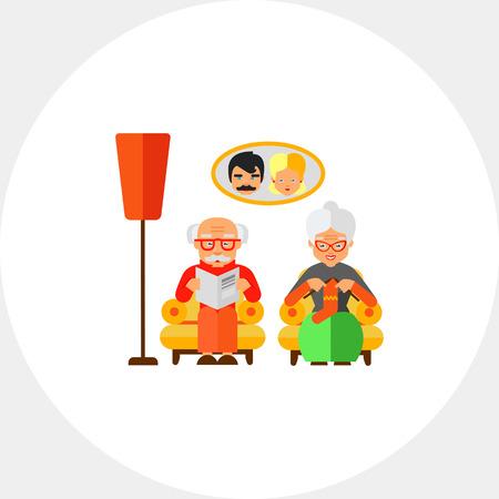 Grandparents Vector Icon