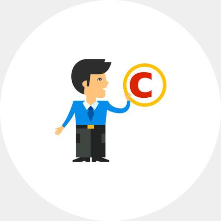 patent: Copyright Symbol Icon