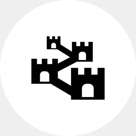 Defensive wall icon Stock Vector - 71474350