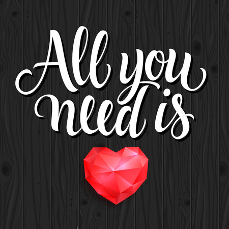 coeur diamant: All You Need Is Lettering, Diamond Heart Illustration