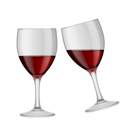 clinking: Two clinking wineglasses Illustration