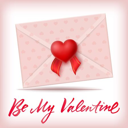 be: Be My Valentine Lettering and Envelope
