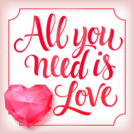 all saints day: All You Need Is Love Lettering, Diamond