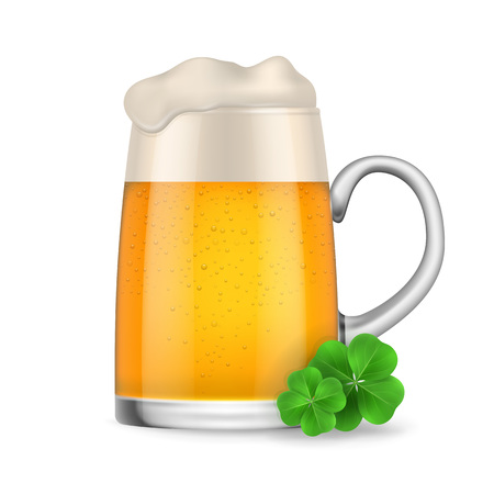Beer mug with clovers