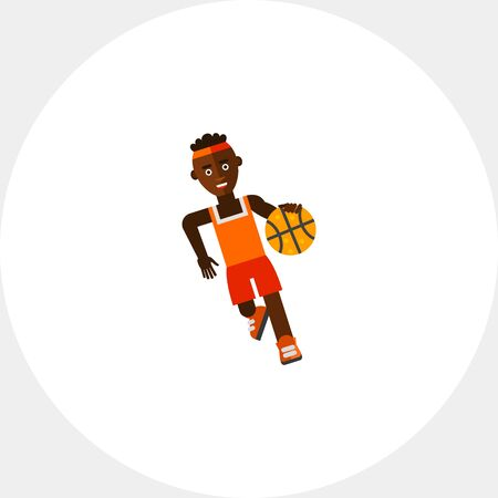 dribble: Basketball Player Moving Dribble Icon