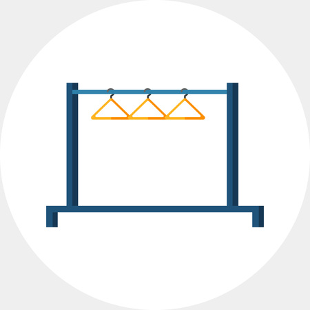 hangers: Clothing Rail with Hangers Icon