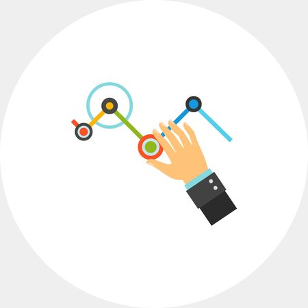 Business analytics dashboard icon
