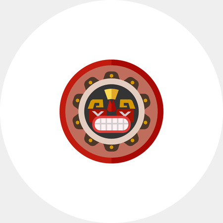 Canadian native mask icon