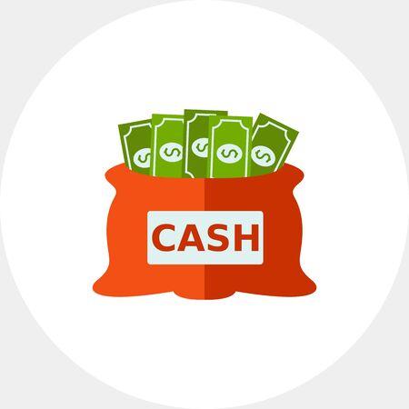 money sack: Cash Bag Icon Illustration