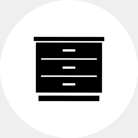 drawers: Chest of Drawers Icon Illustration