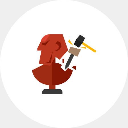 Creating Sculpture Icon Banco de Imagens - 71421119