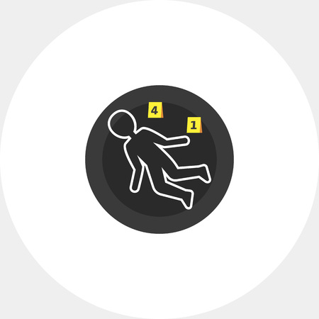 killed: Crime scene icon