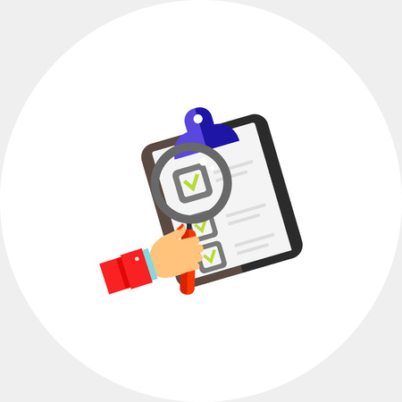 Document and Magnifier Icon Illustration