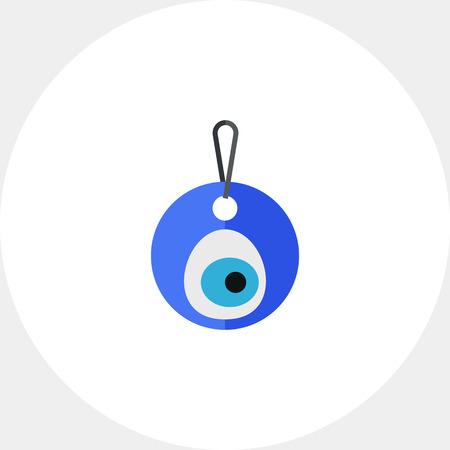 cheeky: Eye-shaped amulet nazar icon Illustration