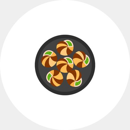 Escargots on plate icon