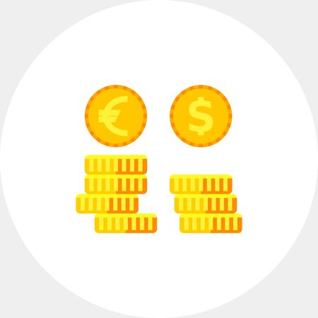 Exchange Rates Vector Icon Illustration