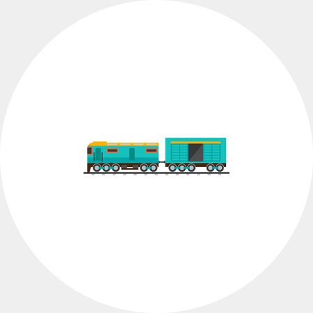 boxcar train: Freight Train Car Icon Illustration