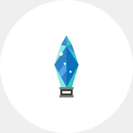 rewarding: Glass Award Vector Icon Illustration