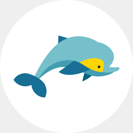 Isolated Dolphin Icon