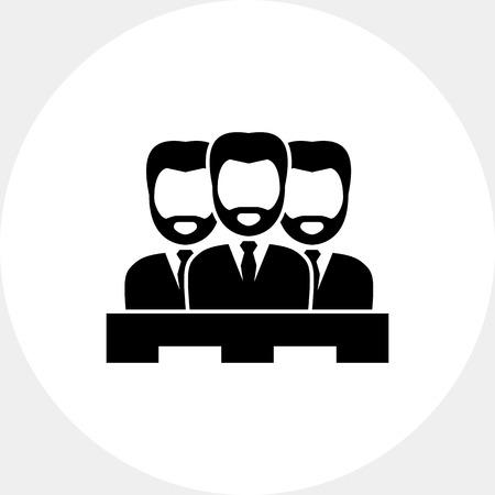 jurado: Jurado de tres hombres. Juicio, el juicio, el deber. concepto corte. Puede ser utilizado para temas como la jurisprudencia, la criminalidad, negocios.