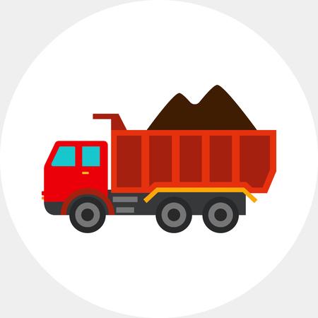 dump body: Loaded dump truck icon