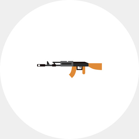 automatic rifle: Machine Gun Icon Illustration