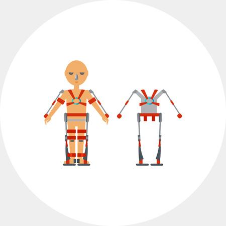 exoskeleton: Man Wearing Exoskeleton Icon