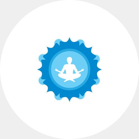 man meditating: Meditating man