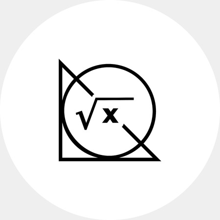 Math Formula, Circle and Triangle Icon