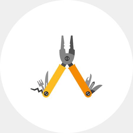 unscrewing: Multi Tool Vector Icon Illustration