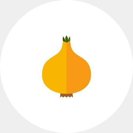 Multicolored vector icon of whole fresh onion bulb Illustration
