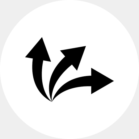 Options Concept with Three Arrows Icon