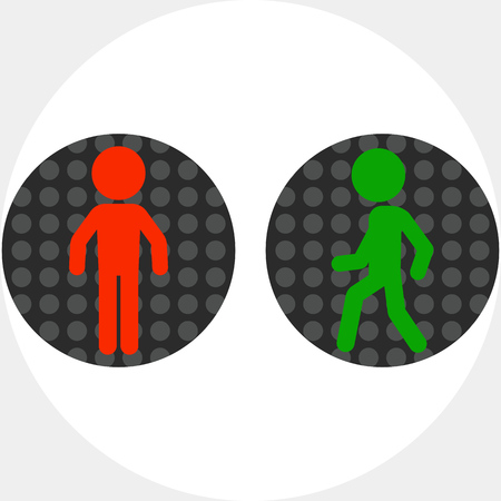 Pedestrian Traffic Lights Vector Icon