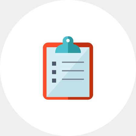 writing pad: Paper on clipboard icon Illustration