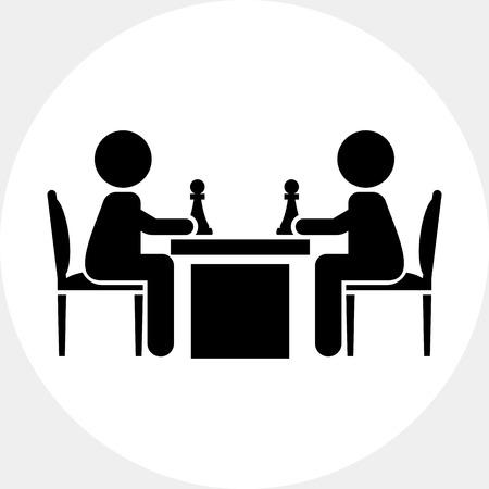 jugando ajedrez: People Playing Chess Icon
