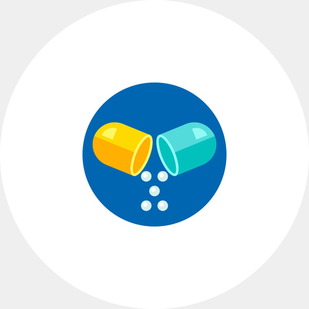 prescribing: Pill Vector Icon Illustration