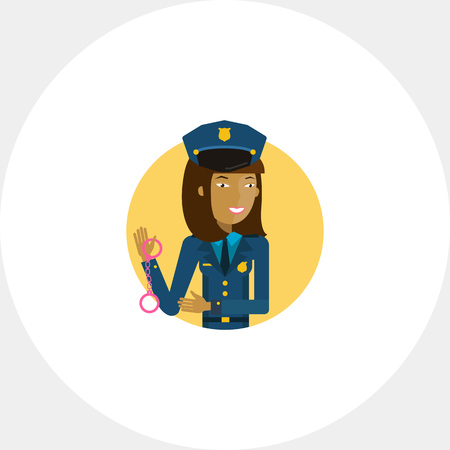 femme policier: Policewoman