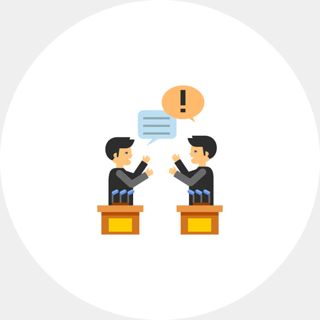 Political Debates Icon Illustration