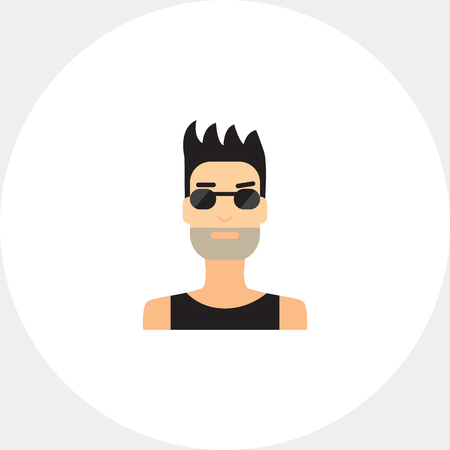 Portrait of man with bristle wearing sunglasses
