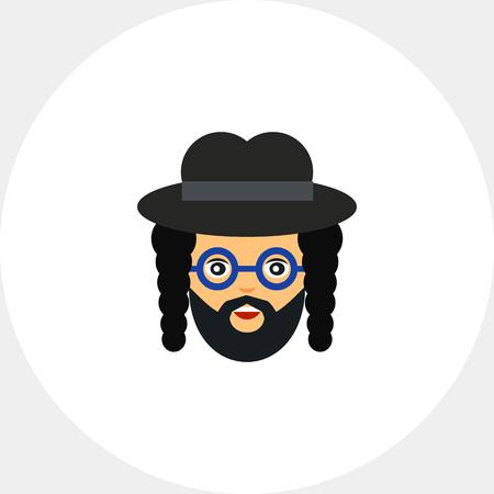 judaic: Portrait of orthodox Jew Illustration