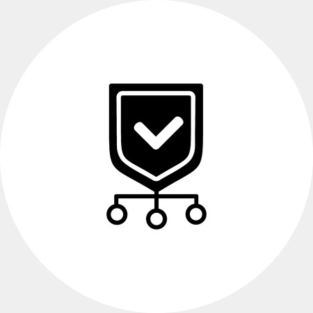 protection icon: Protection Network Simple Icon Illustration