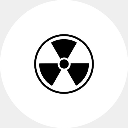 gamma radiation: Radiation simple icon