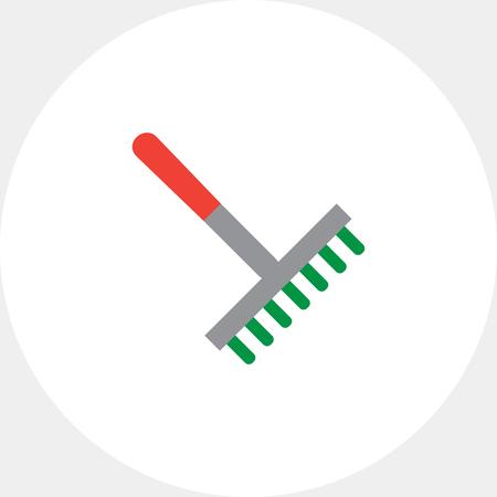 scraping: Rake icon Illustration
