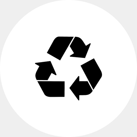 recycling: Recycling sign icon