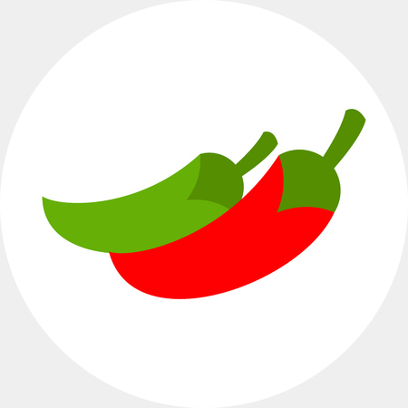 jalapeno: Red and green jalapeno peppers icon