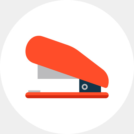 staple: Red stapler icon Illustration