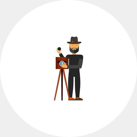 take a history: Retro Photography Concept Icon