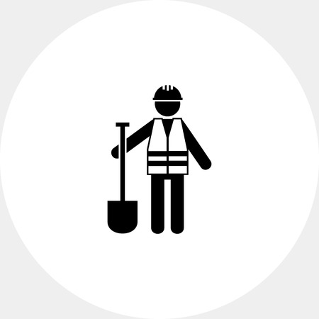 Roadworker in Safety Vest Icon