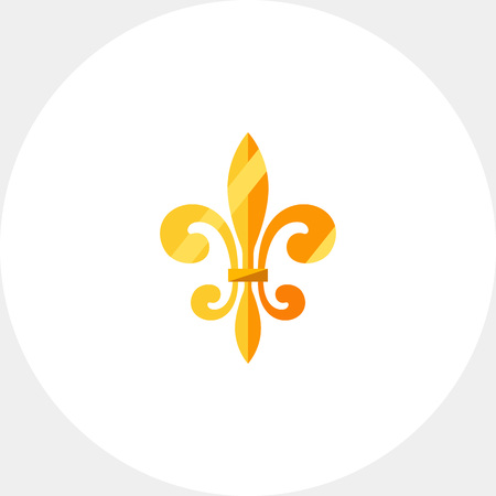royal french lily symbols: Royal French lily icon Illustration