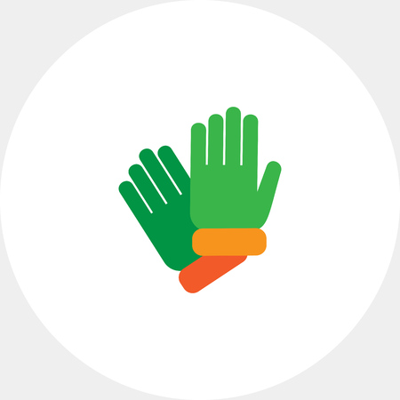 Vector icon of two protective rubber gloves